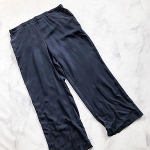 J. Jill Pure Jill Tencel Full Wide Leg Pants Blue